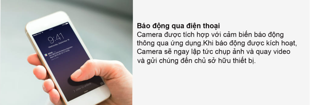 Camera IP Wifi EZVIZ CS-CV246 (C6C 720P) báo động qua điện thoại